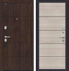 Металлическая дверь Porta S 4.П50 Almon 28/Cappuccino Veralinga