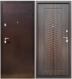Металлическая дверь Магна Волна-2 Мореный дуб