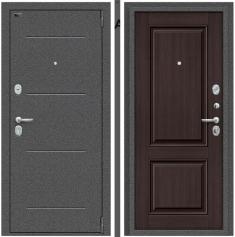 Металлическая дверь Porta S 104.К32 Антик Серебро/Wenge Veralinga