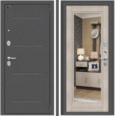 Металлическая дверь Porta S 104.П61 Антик Серебро/Cappuccino Veralinga