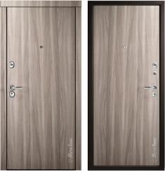 Стальная дверь Металюкс М92 Орех светло-серый