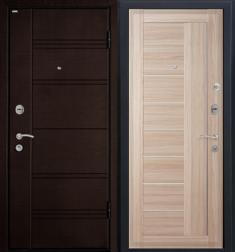 Металлическая дверь МеталЮр М17 Капучино мелинга