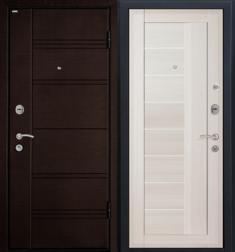 Металлическая дверь МеталЮр М17 ЭшВайт мелинга