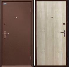 Металлическая дверь Ультра Про Антик Медь/Беленый Дуб