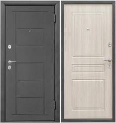 Металлическая дверь Промет Практик Беленый Дуб