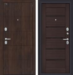 Металлическая дверь Porta S 4.П22 Almon 28/Wenge Veralinga