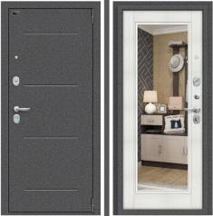 Металлическая дверь Porta S 104.П61 Антик Серебро/Bianco Veralinga