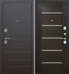 Металлическая дверь Гарда Барселона царга Венге