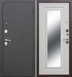 Металлическая дверь Гарда Царское зеркало Белый ясень