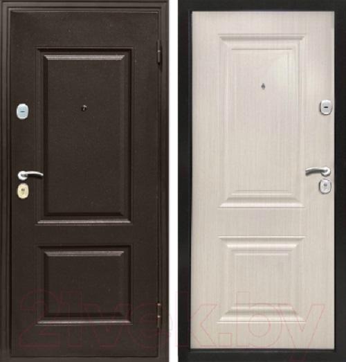 Металлическая дверь Магна КЛАССИКА (Белый ясень)