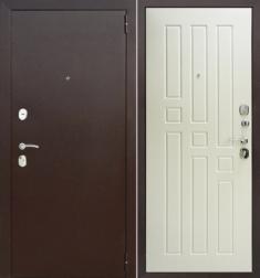 Металлическая дверь Гарда 8 мм Белый ясень