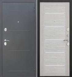Металлическая дверь Гарда муар царга Лиственница беж