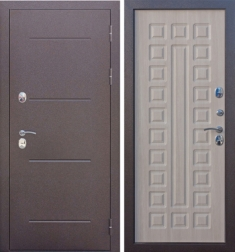 Металлическая дверь Гарда ISOTERMA (Изотерма) Лиственница мокко
