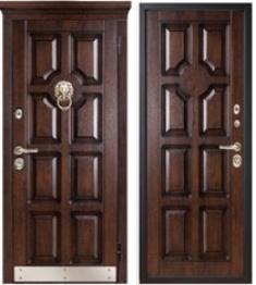 Металлическая дверь Металюкс М707/2 с капителью
