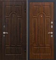 Металлическая дверь МеталЮр М5 Темный орех