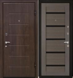 Металлическая дверь МаталЮр М7 Грей мелинга стекло - черное