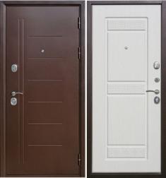 Металлическая дверь Гарда Троя антик Белый ясень
